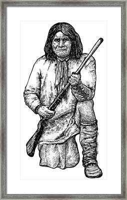 Geronimo Framed Print by Karl Addison