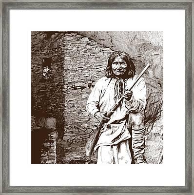 Geronimo's Skull Framed Print