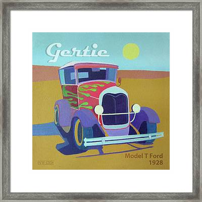 Gertie Model T Framed Print by Evie Cook