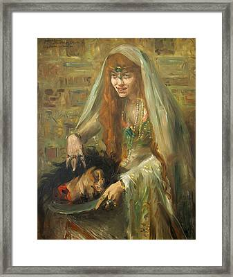 Gertrud Eysoldt As Salome Framed Print by Lovis Corinth