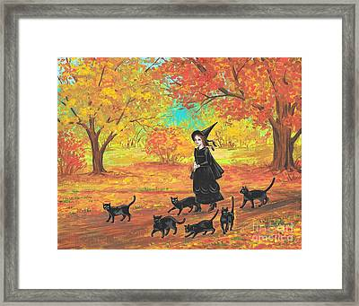 Gertrude And Her Six Companions Framed Print