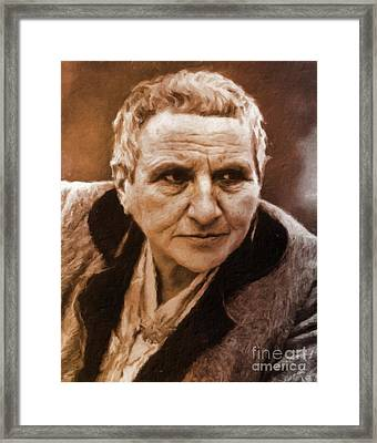 Gertrude Stein, Literary Legend By Mary Bassett Framed Print by Mary Bassett