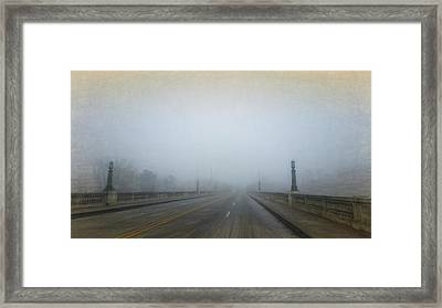 Framed Print featuring the photograph Gervais Bridge Christmas Day by Steven Richardson