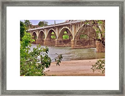 Gervais Street Bridge 2 Framed Print by Lisa Wooten