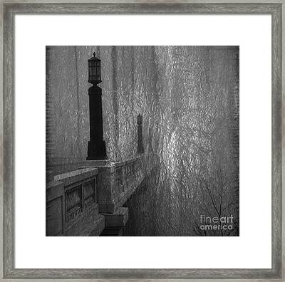 Gervais Street Bridge Bnw Artistic Framed Print by Skip Willits