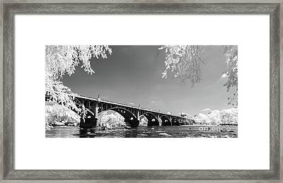 Gervais Street Bridge In Ir1 Framed Print
