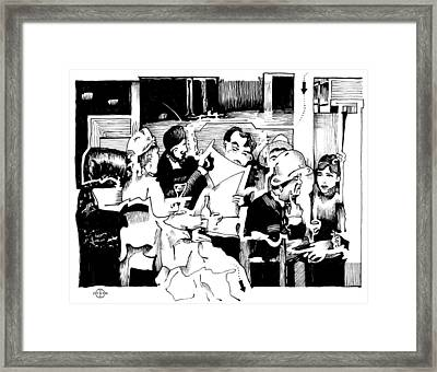 Gervex Paris Cafe Framed Print by Gary Peterson