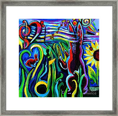 Rabbit Conducting A Mid-summer Nights Symphony Framed Print