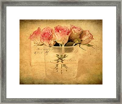 Gesture Framed Print by Jessica Jenney