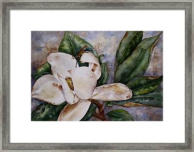 Framed Print featuring the painting Get A Grip by Mary McCullah