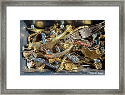 Framed Print featuring the photograph Get A Handle On It by Christopher Holmes