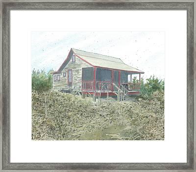 Get Away Cottage Framed Print by Joel Deutsch