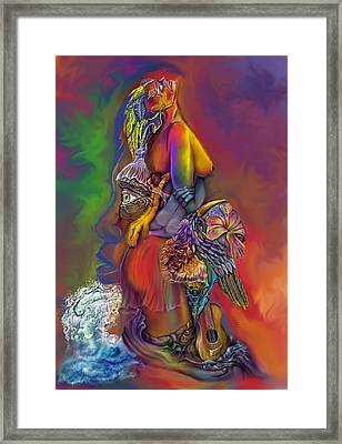 Framed Print featuring the digital art Get Away Wip by Karen Musick