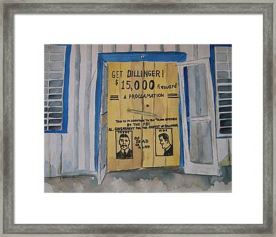 Get Dillinger Framed Print by Patricia Caldwell