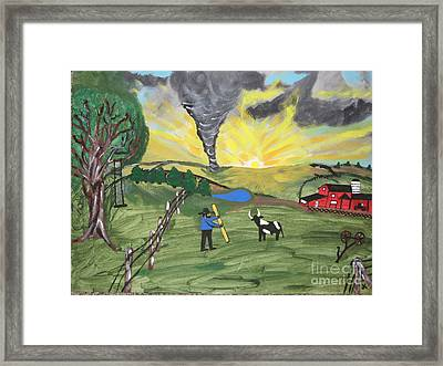 Framed Print featuring the painting Get In The Barn by Jeffrey Koss