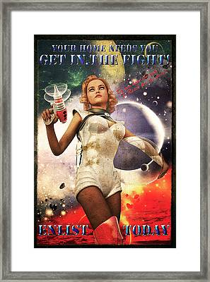Get In The Fight Framed Print