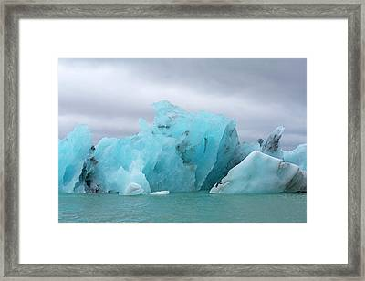 Get Inspired Glacier Lagoon Framed Print