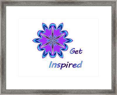 Get Inspired Framed Print