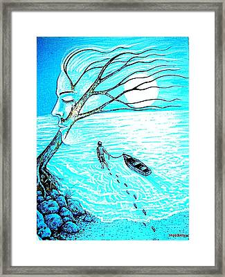 Get Into The Depths Of The Unconscious Framed Print