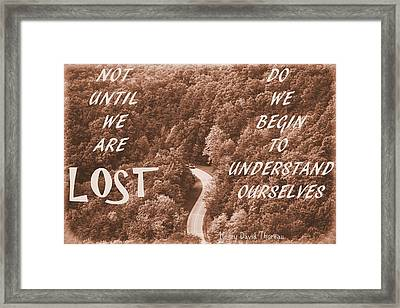 Get Lost Quote Framed Print