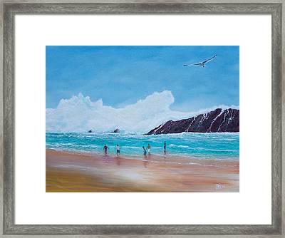 Get Off The Beach Framed Print by Tony Rodriguez