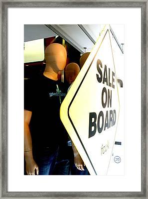 get on Board Framed Print by Jez C Self