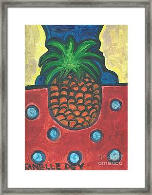 Framed Print featuring the painting Get Over Yourself by Janelle Dey