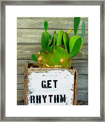 Get Rhythm Framed Print