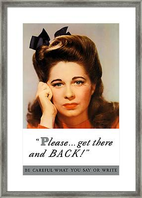 Get There And Back - Ww2 Framed Print