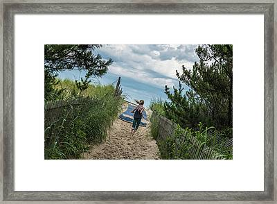 Get To The Beach Framed Print
