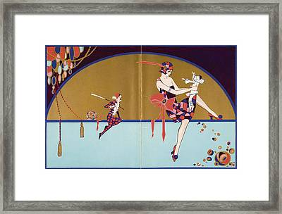 Get-together Dinner Menu. Cunard West Framed Print by Vintage Design Pics