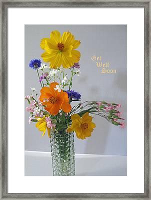 Get Well Bouquet Framed Print