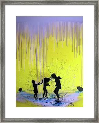 Get Your Feet Wet Framed Print by Robert Wolverton Jr