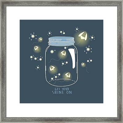 Get Your Shine On Framed Print