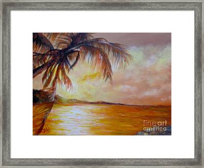 Framed Print featuring the painting Getaway by Saundra Johnson