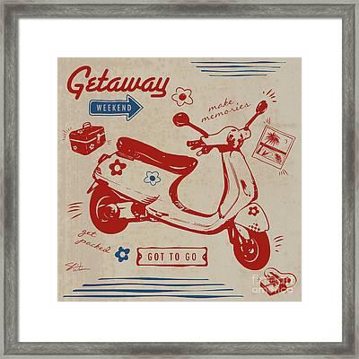 Getaway Weekend Framed Print