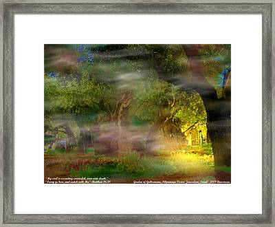 Framed Print featuring the photograph Gethsemane Vision-2008 by Anastasia Savage Ealy