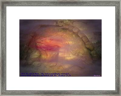 Framed Print featuring the photograph Gethsemane Vision A Night Of Blood-sweat And Tears by Anastasia Savage Ealy