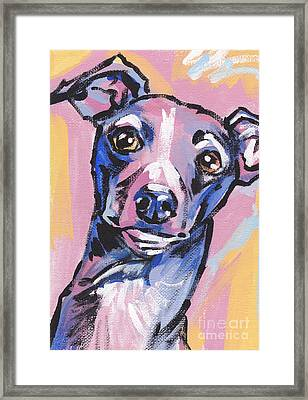 Gettin Iggy Wit It Framed Print by Lea S