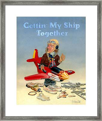 Gettin My Ship Together Framed Print by Ben Bensen III