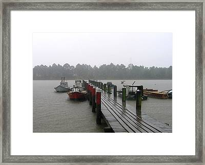 Framed Print featuring the photograph Gettin' Wet by Rick McKinney