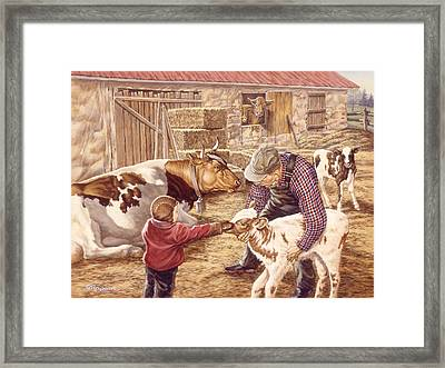 Getting Acquainted Framed Print