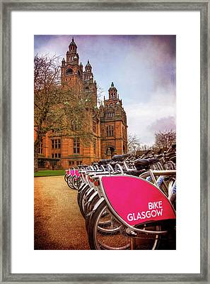 Getting Around Glasgow  Framed Print by Carol Japp