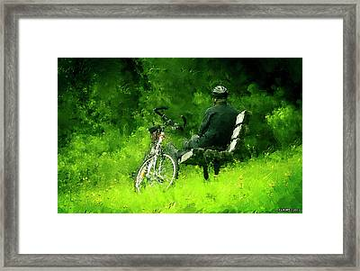Getting Away From It All Framed Print by Ken Morris