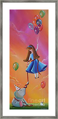 Getting Carried Away Framed Print