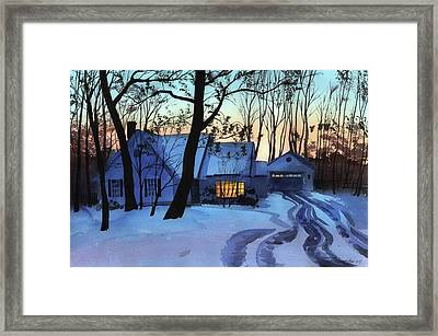 Framed Print featuring the painting Getting Late by Sergey Zhiboedov