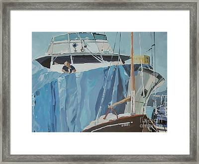 Getting Ready Framed Print by Andrew Drozdowicz