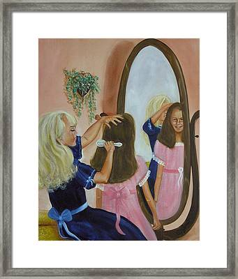 Framed Print featuring the painting Getting Ready by Joni McPherson