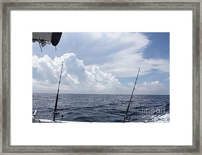 Getting Ready To Fish Framed Print
