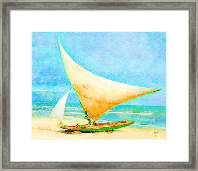 Framed Print featuring the painting Getting Ready To Go Out by Angela Treat Lyon